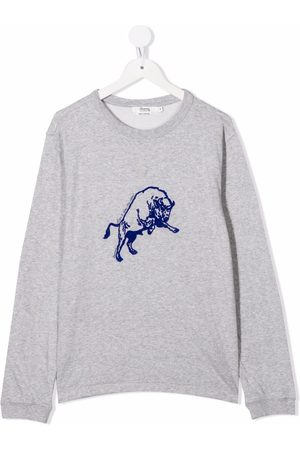 BONPOINT TEEN embroidered-logo long-sleeved T-shirt