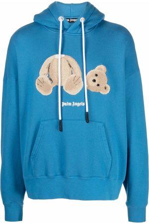 Palm Angels Bear-print drawstring hoodie