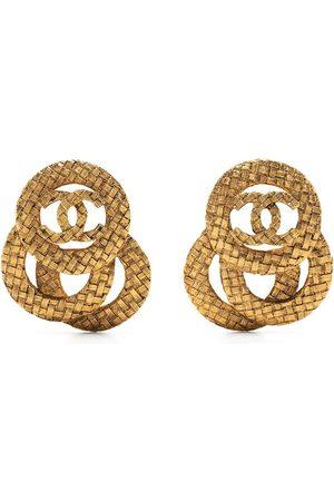 CHANEL Women Earrings - 1980-1990s interlocking circles CC earrings