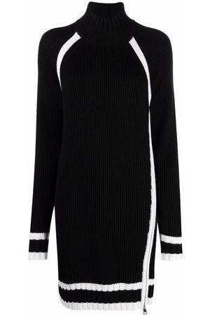 Karl Lagerfeld Women Knitted Dresses - Two-tone knitted dress