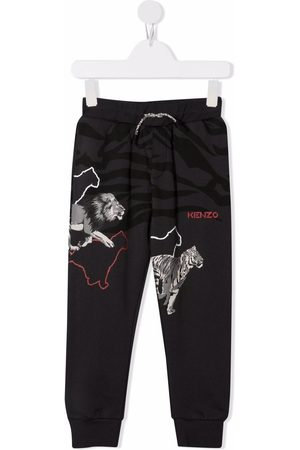 Kenzo Boys Trousers - Animal-print track pants