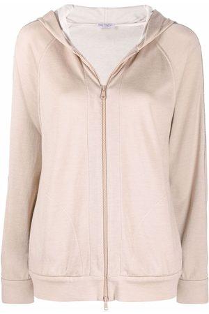 Brunello Cucinelli Brass-embellished zipped hoodie