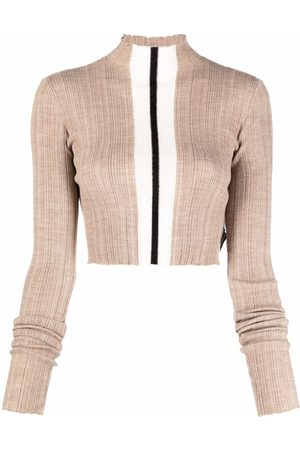 Palm Angels Stripe detail knitted top