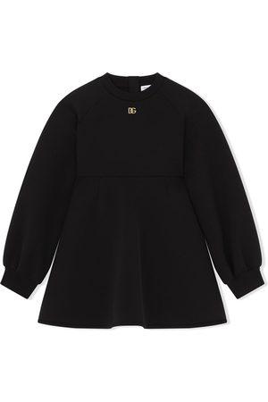 Dolce & Gabbana Logo-plaque sweater dress