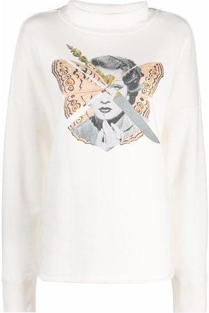UNDERCOVER Photograph-print long-sleeve jumper