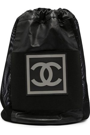 CHANEL 2004 Sports CC patch drawstring backpack