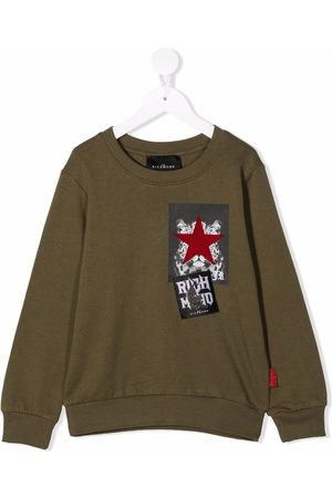 John Richmond Junior Patch print sweatshirt