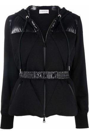 Moncler Belted zip-up hoodie