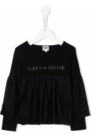 Karl Lagerfeld Ruffle-detail long-sleeve T-shirt