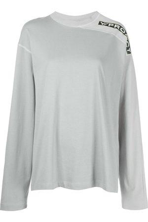 Y / PROJECT Two-tone clip shoulder T-shirt