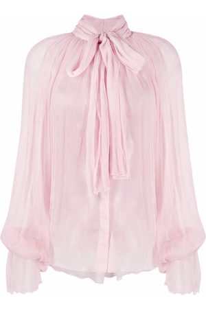 Atu Body Couture Pussy bow-collar silk blouse