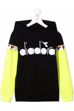Diadora Logo-print colour-block hoodie