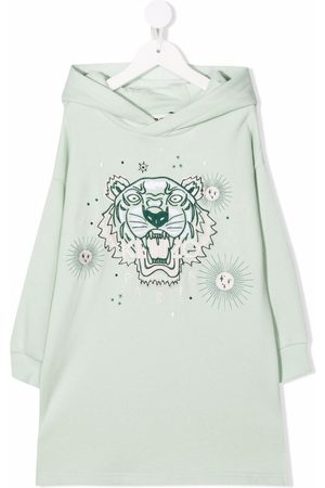 Kenzo Tiger-embroidered hoodie dress