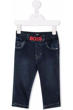HUGO BOSS Logo-waist jeans