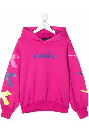 Diadora Logo-print cotton hoodie