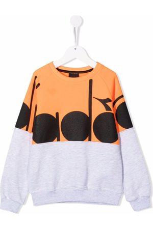 Diadora Logo-print contrast sweatshirt