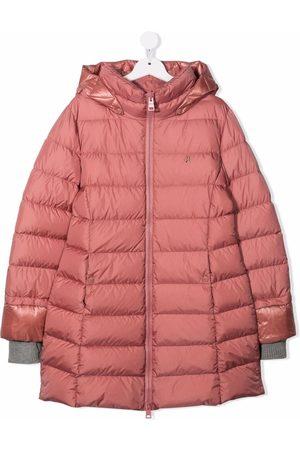 HERNO Girls Hoodies - TEEN hooded zip-up padded coat