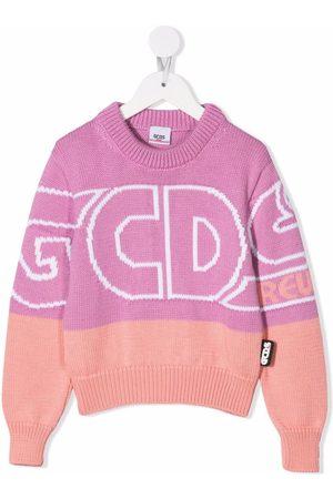 GCDS Girls Jumpers - Large logo-print jumper