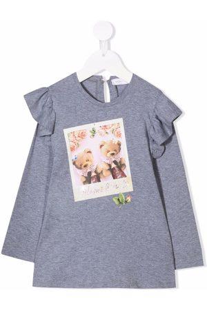 MONNALISA Teddy Polaroid print T-shirt