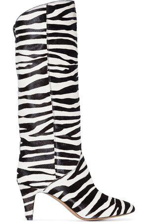 Isabel Marant Laylis zebra print 75mm boots
