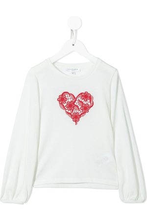 Charabia Embroidered long-sleeved T-shirt