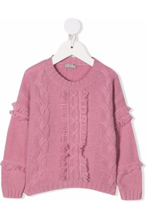 Il gufo Girls Jumpers - Cable-knit crew neck jumper