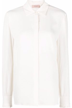 Twin-Set Women Long Sleeve - Ruffled-cuffs long-sleeved shirt
