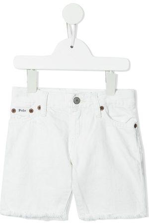 Ralph Lauren Raw-cut hem denim shorts