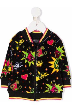 Diesel Graphic-print zip sweatshirt