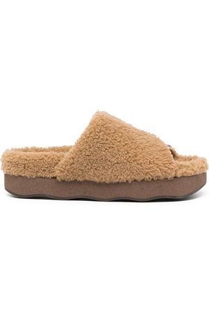 Chloé Wavy shearling slippers