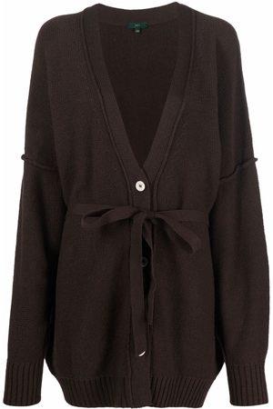 JEJIA Tie-waist knitted cardigan
