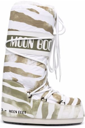Moon Boot Lace-up zebra print boots