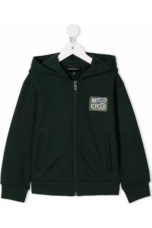 Emporio Armani Logo-patch hoodie