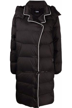 Karl Lagerfeld Transformer hooded down coat