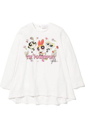 MONNALISA Girls Long Sleeve - Powerpuff girls maxi T-shirt