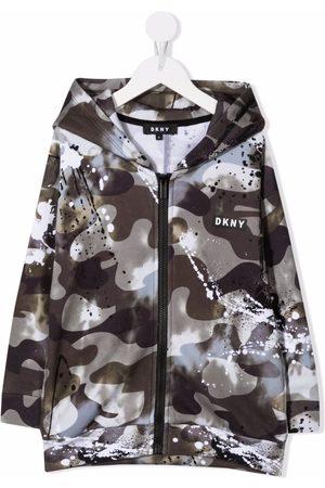 DKNY Camouflage-print logo hoodie
