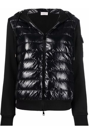 Moncler Contrast-panel hooded padded jacket