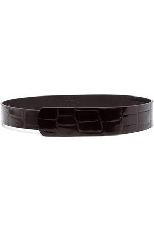 Gianfranco Ferré 1990s crocodile effect leather belt