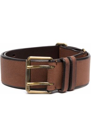 Gianfranco Ferré 1990s double-pin buckled leather belt