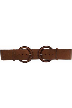 Gianfranco Ferré 1990s double-buckle leather belt