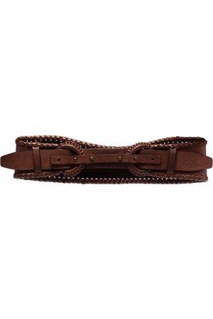Gianfranco Ferré Women Belts - 1990s double-buckled curved leather belt