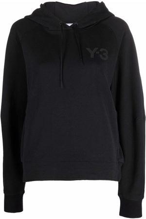 Y-3 Logo-patch drawstring hoodie