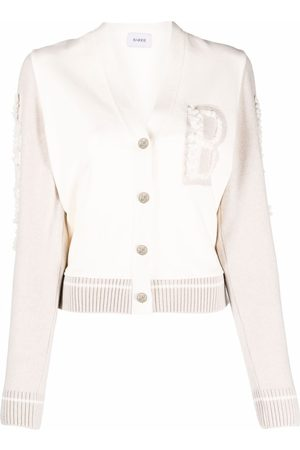 Barrie Women Cardigans - Marina chest-logo cardigan