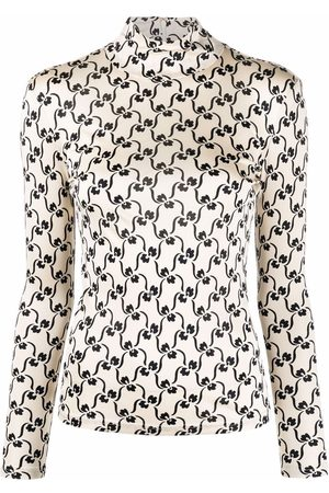 Tory Burch Floral-print turtle neck top