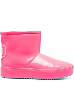 Chiara Ferragni Logo-patch rubber ankle boots