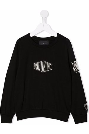 John Richmond Junior Logo-embroidered cotton sweatshirt