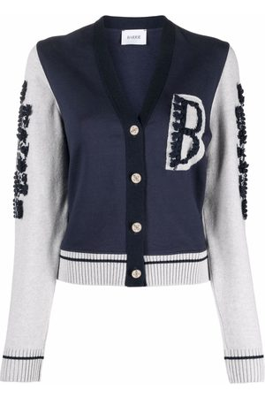 Barrie Logo-patch button-up cardigan