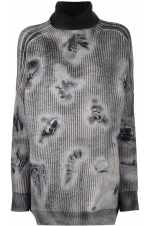 AVANT TOI Distressed-effect rollneck sweater