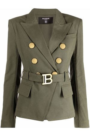 Balmain Belted double-breasted blazer