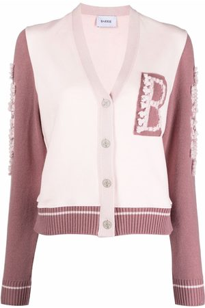 Barrie Logo-patch knitted cardigan